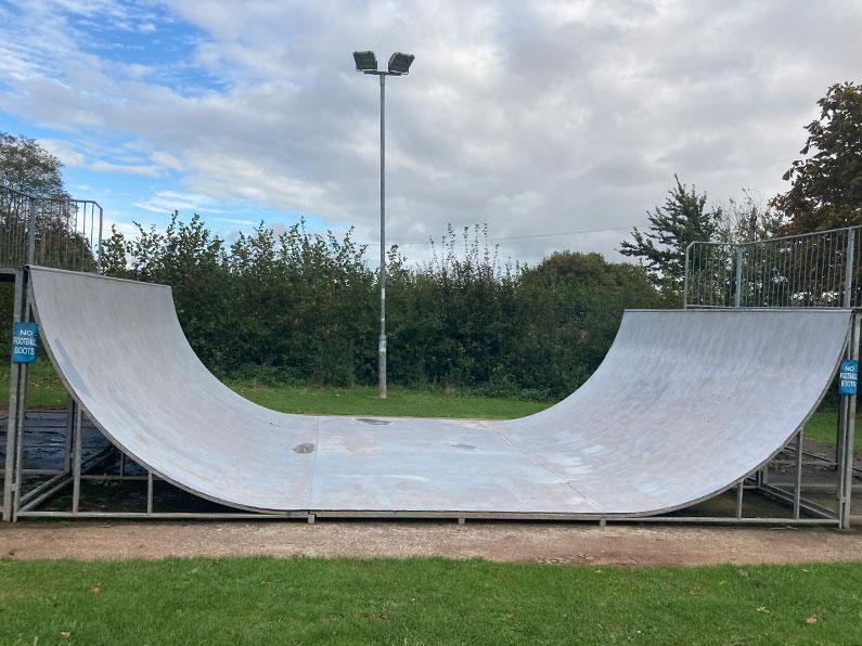 Half-Pipe skate ramp Nether Stowey Recreation Ground