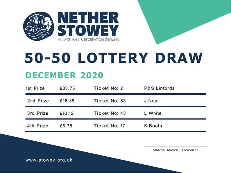 Nether Stowey 50-50 Lottery December 2020